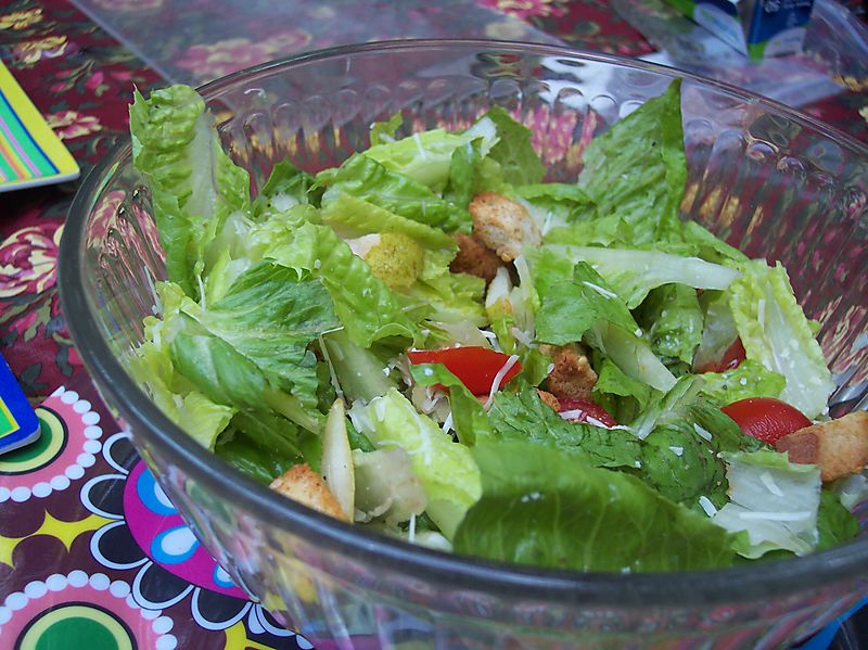 Campfire Ceasar Salad