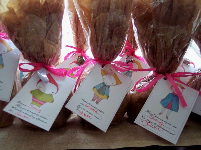 Handmade Holidays-wrapped bath salts