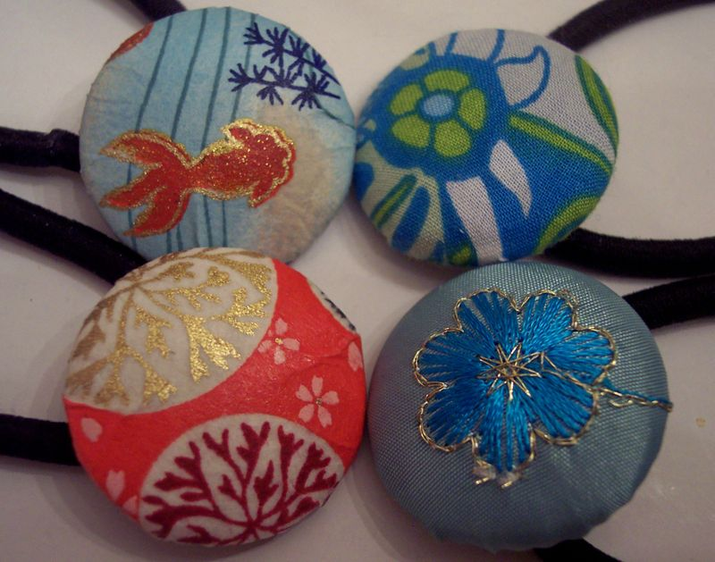 Handmade Holidays-Ponytail Holders From Paper and Fabric