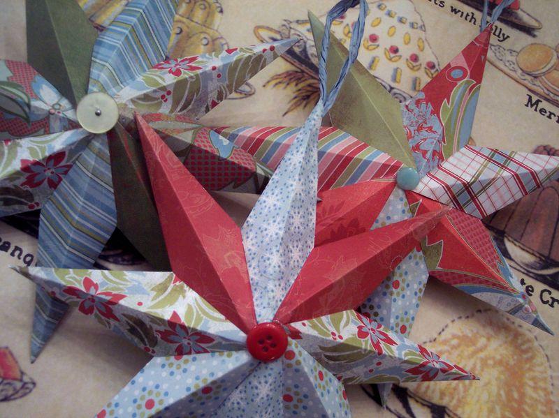 Handmade Holiday Paper Stars
