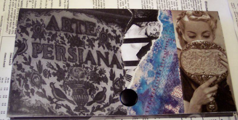 Arte Persiana Upcycled paper and vinyl wallet