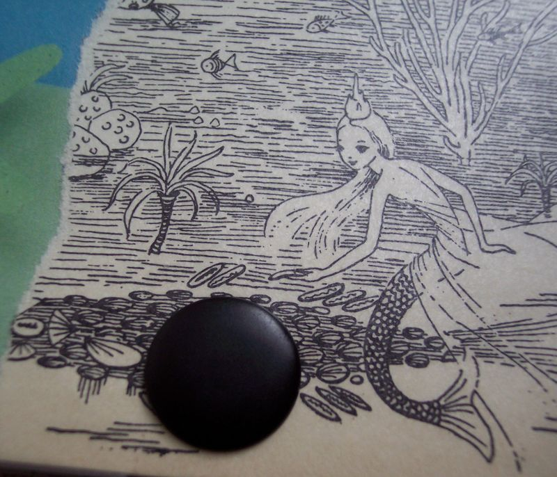 Mermaid cardholder detail