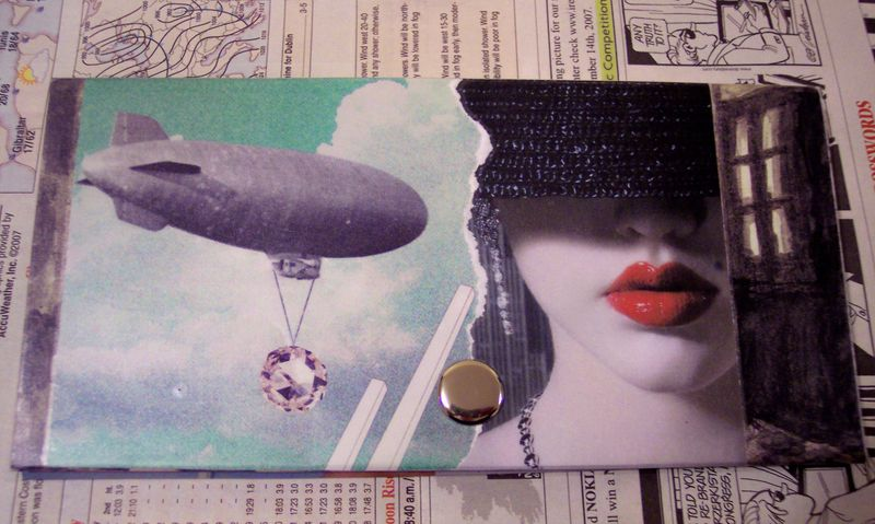 Upcycled Wallet-Collage