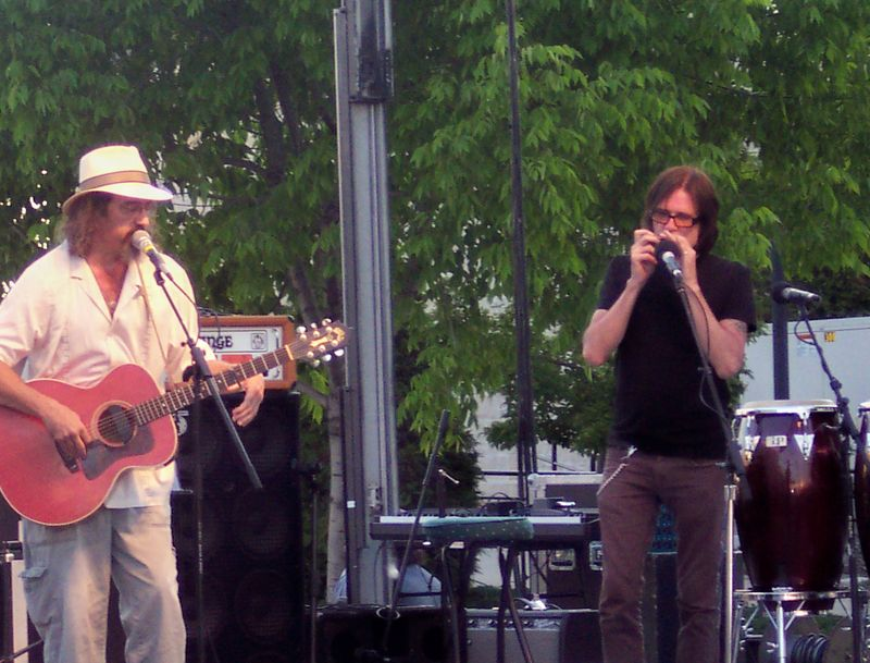 James McMurtry with Pat MacDonald of Timbuk3 Steel Bridge Songfest 5 in Sturgeon Bay June 13 2009