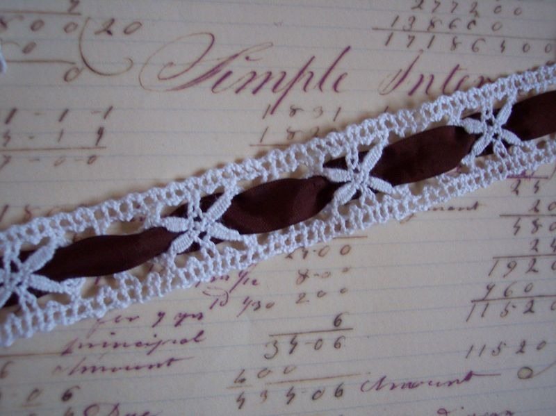 Vintage lace and ribbon