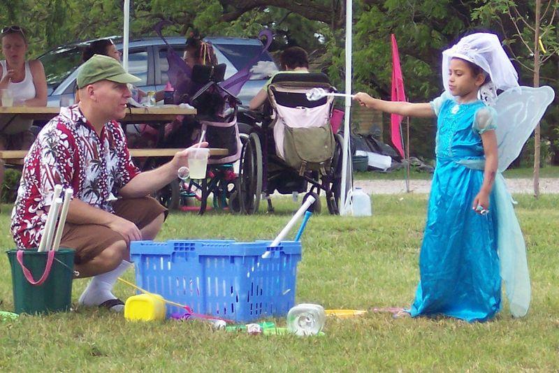 A Fairy Princess Making Bubbles