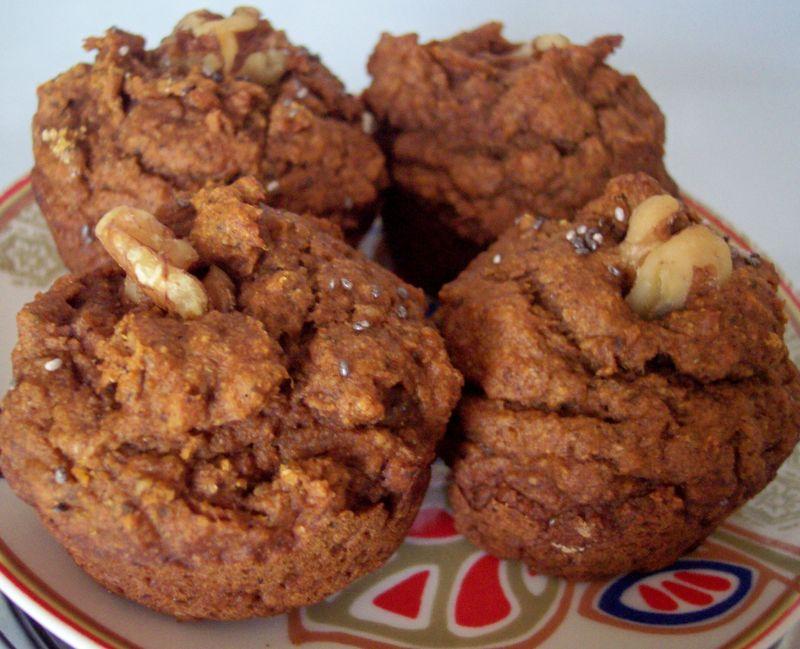 Chia seed pumpkin muffins