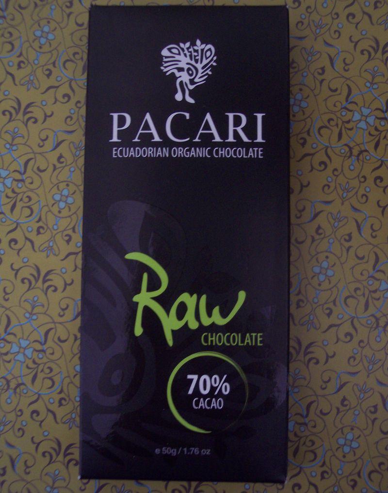 Pacari ecuadorian organic raw chocolate