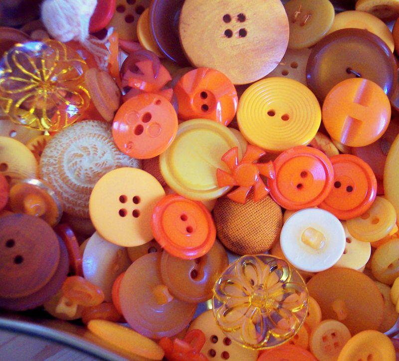 Cute as a little orange button